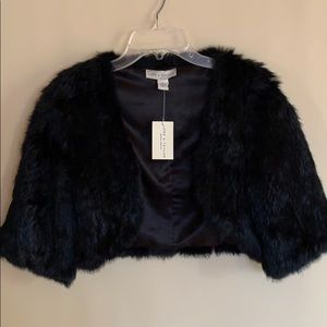 NWT 100% Rabbit Fur Coat